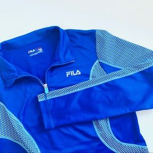 FILA Sport • Blue Run Mesh Zip Gym Active Jacket L